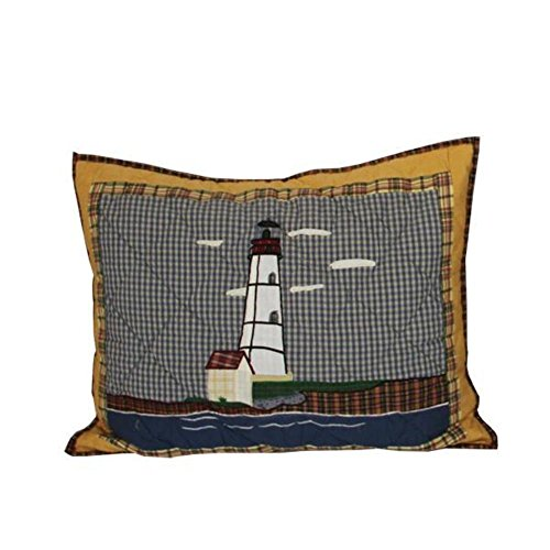 Patch Magic 27-Inch by 21-Inch Lighthouse by Bay Pillow Sham