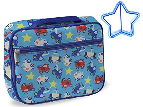 galleon keeli kids fire truck police car lunch box for boys and