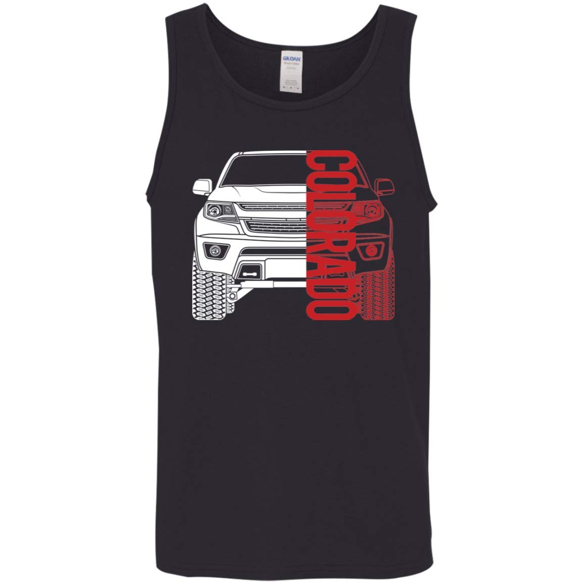 WheelSpinAddict Mens Colorado Truck 2015-2019 Tank Top