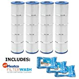 Pleatco Cartridge Filter PJAN145-PAK4 Jandy CL 580 4 Pack w/ 3x Filter Washes