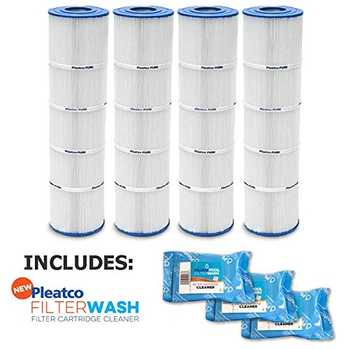 Pleatco Cartridge Filter PJAN145-PAK4 Jandy CL 580 4 Pack w/ 3x Filter Washes by Pleatco