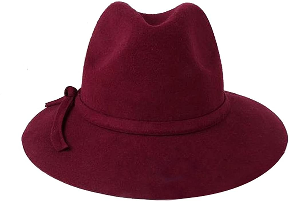ACVIP Women Wool Fedora Solid