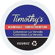 Timothy's La Verada Single Serve Keurig Certified Recyclable K-Cup pods for Keurig brewers, 30 C