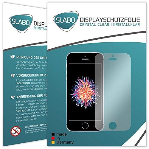 4 x Slabo pellicola protettiva per display iPhone SE protezione display Crystal Clear invisibile MADE IN GERMANY