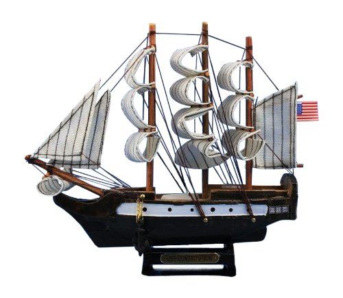 Constitution Wood Tall Ship Model - 5
