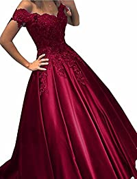 Womens Cap Sleeves Prom Gown Beaded Lace A Line Evening Party Dress