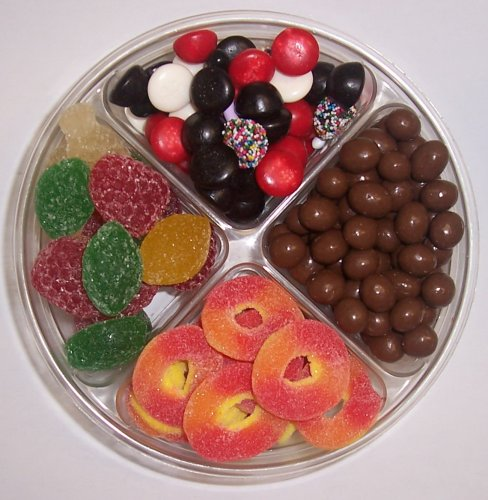 Scott's Cakes 4-Pack Chocolate Peanuts, Peach Rings, Pectin Fruit Gels, & Licorice Mix