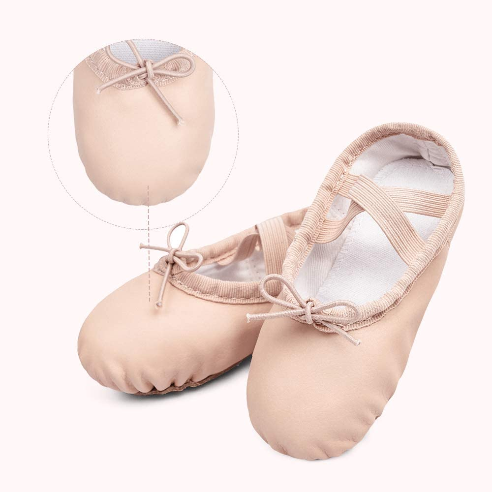 STELLE Girls Ballet Dance Shoes Slippers for Kids Toddler PU