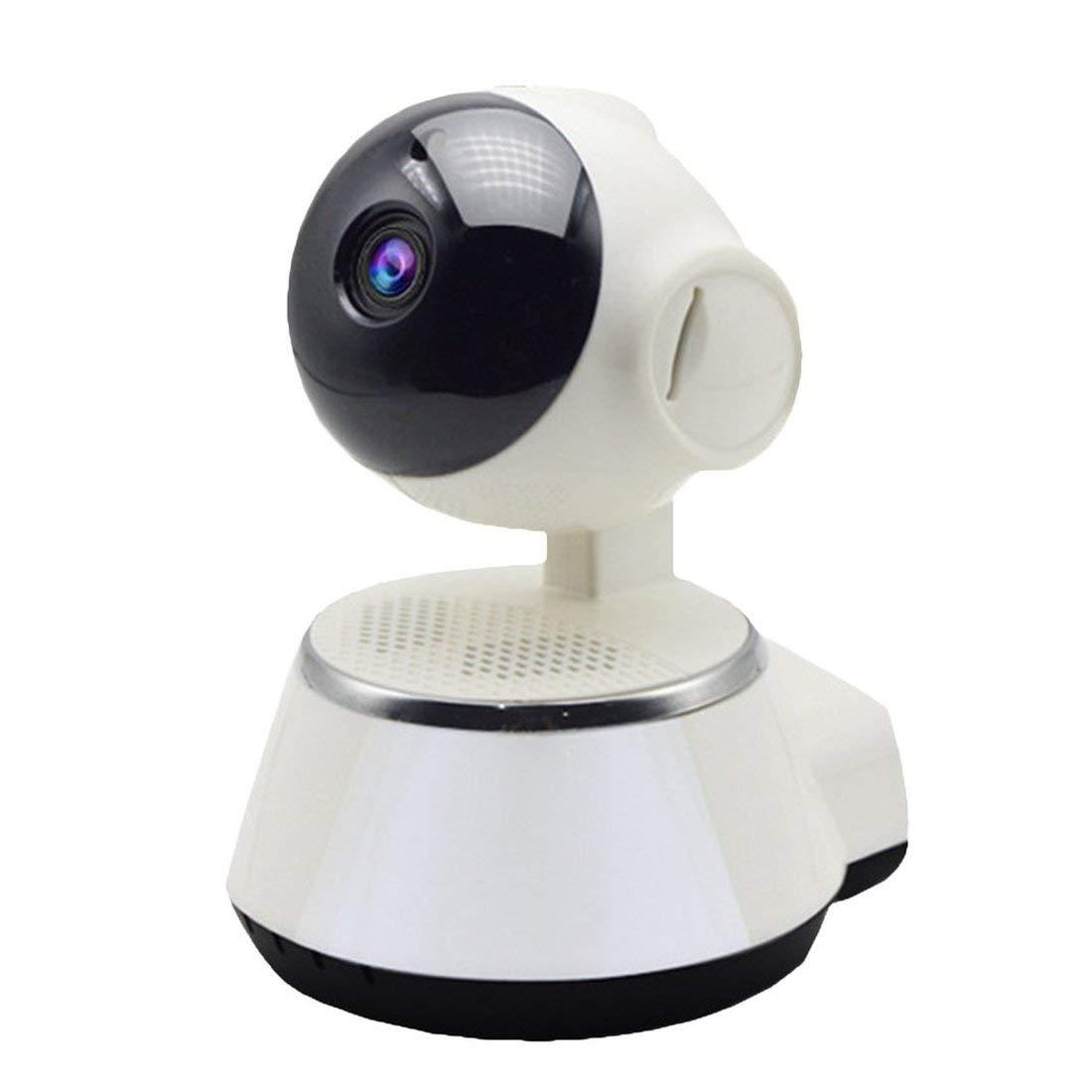 Blanco C/ámara de Vigilancia WiFi HD 1080P Audio C/ámara Bidireccional IR-Cut con Visi/ón Nocturna Infrarrojo Detecci/ón de Movimiento en Forma de Ping/üino