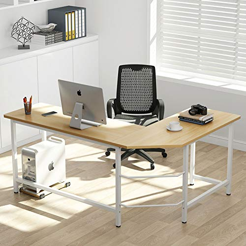 Tribesigns Modern L-Shaped Desk Corner Computer Desk PC Lapt