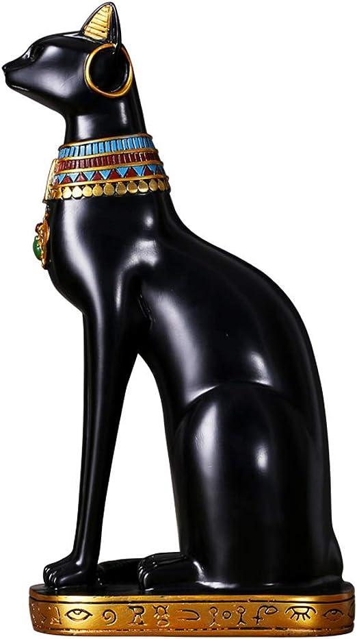 NAISI Lucky Cat Escultura Gato Egipcio Dios Adornos Decoración de ...