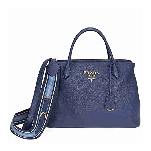Prada Calfskin Leather Tote - Blue (Handbag Prada Blue)