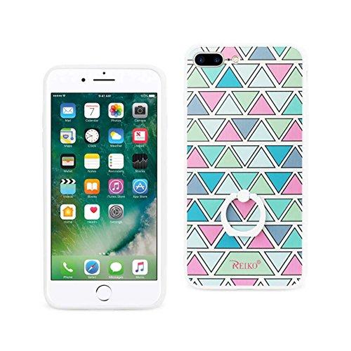REIKO iPhone 7 Plus Triangle Pattern Hard TPU Case with 3...