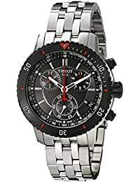 Men's T067.417.21.051.00 T-Sport Textured Dial Stainless Steel Watch