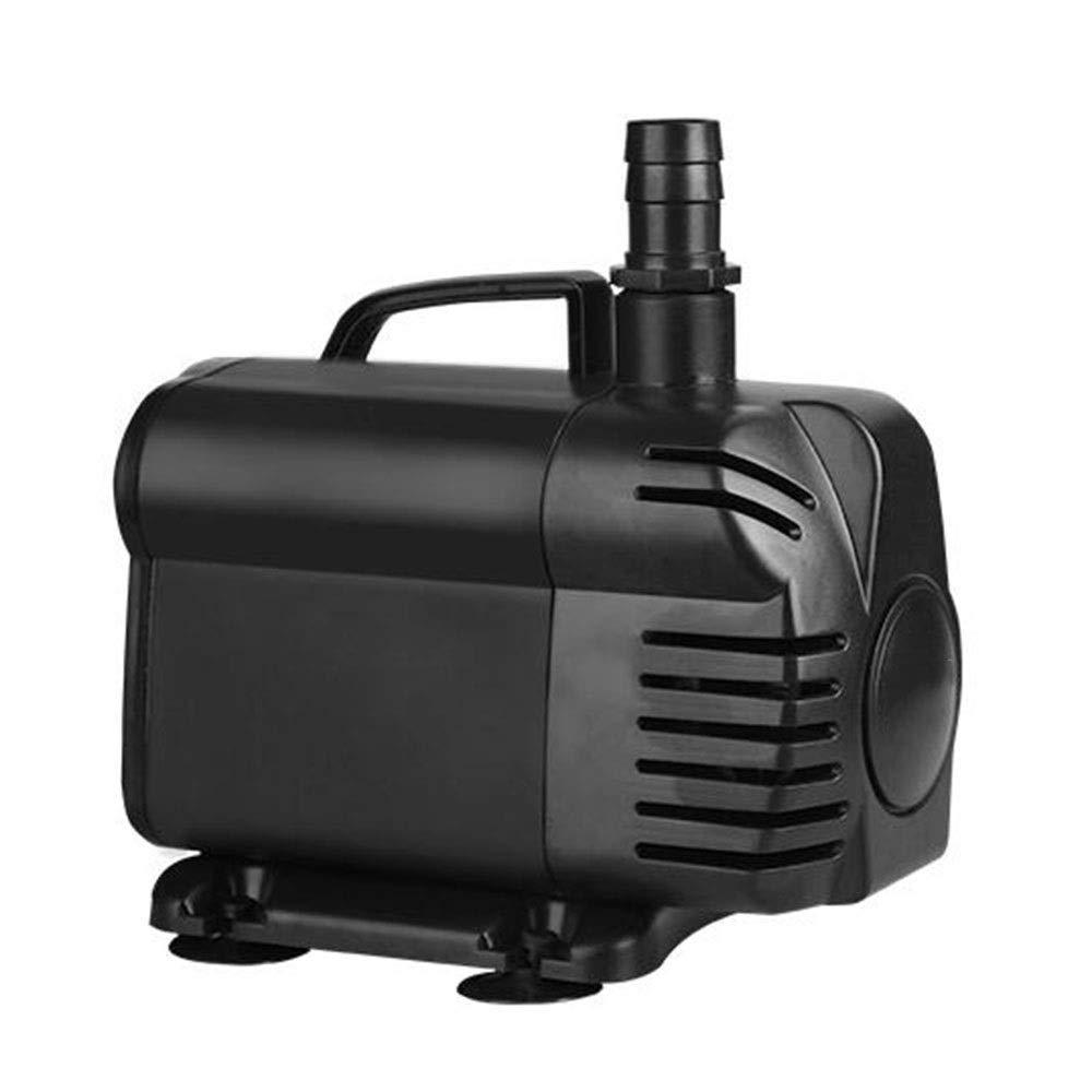 Black LIFUREN Fish Tank Oxygen Pump High Lift Submersible Pump Silent Large Flow Aquarium Circulating Pump (color   Black)