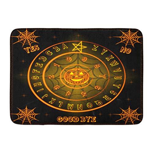 Emvency Doormats Bath Rugs Outdoor/Indoor Door Mat Ghosts Ouija Talking Board Halloween Horrorbackground Ouijaboard Bathroom Decor Rug Bath Mat 16