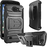 LG K4 Case, ATUS® Heavy Duty Dual Layer Holster Case Kick Stand with Locking Belt Swivel Clip + Ultra-sensitive Stylus Pen (Black) Review