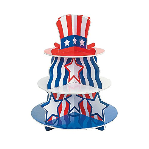 1 X Patriotic Foam Cupcake Holder