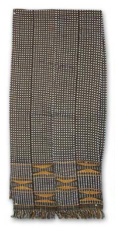 NOVICA Multicolor Cotton Kente Cloth Scarf, 'Royal Checks' by NOVICA