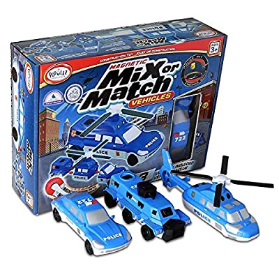 Popular Playthings Mix Or Match Vehicles Police Vehicles …: Toys & Games