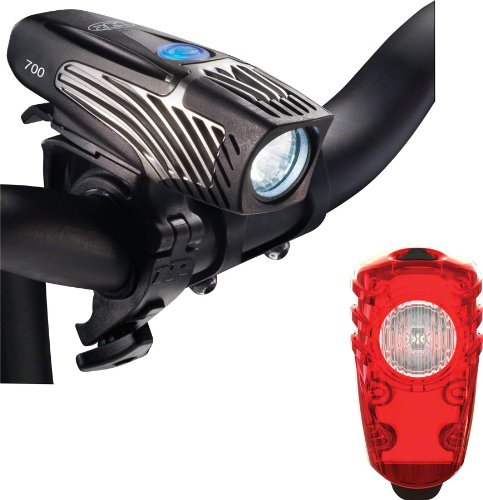 NiteRider Lumina 700 and Solas Combo USB Rechargeable Bike (2w Usb Tail Light)