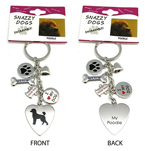 Engraved Dog Key Chains (Poodle)