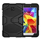 Samsung Tab E 8.0 Case T377/T375,JOBSS Heavy Duty Shockproof Hybrid Rugged Rubber Protective Stand Case for Samsung Galaxy Tab E 8 inch 4G LTE SM-T377/T375 Tablet Black