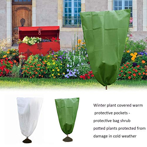 narratorbook Garden Plant Covers Freeze Protection & Plant Frost Blanket Reusable Plant Covers Frozen Protection Covered Fits for Cold Weather Season Extension&Frost Protection(1.62m) approving