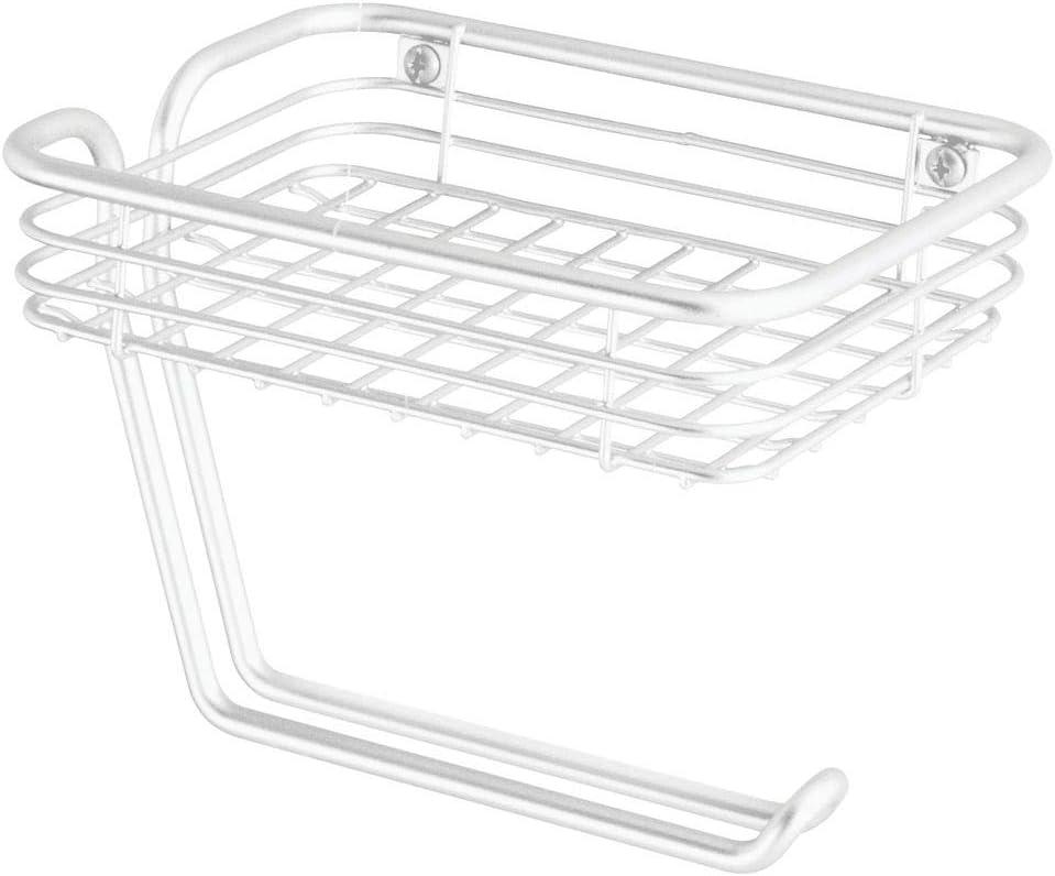 Accesorios de ba/ño para la Pared Que ahorran Espacio Toallero de Pared para ba/ño con 6 Compartimentos MetroDecor mDesign Pr/áctico toallero de ba/ño de Metal Inoxidable Blanco