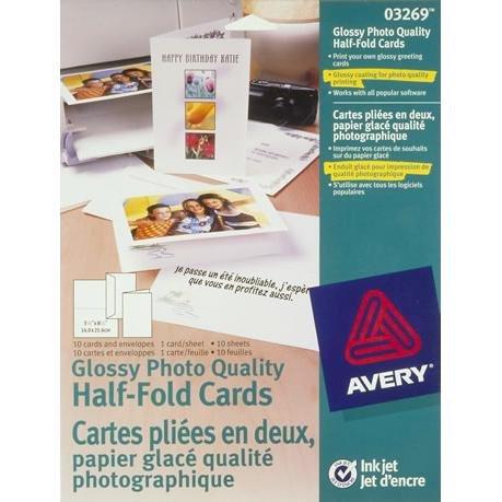 Avery Glossy Half Fold Greeting Envelopes