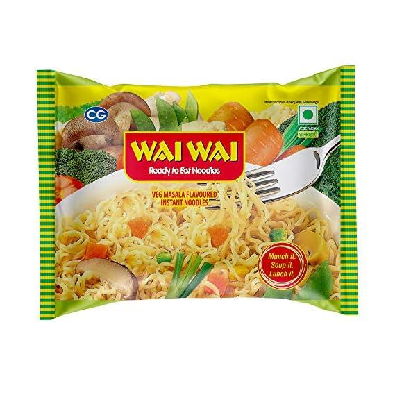 Wai Wai 1-2-3 Veg Noodles - Masala Flavour, 65g