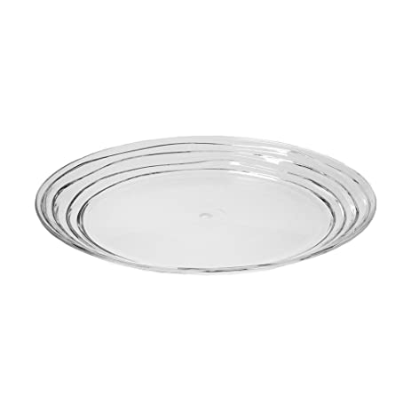 Acrylic Swivel Dinner Plate Set of 4 - Clear  sc 1 st  Amazon.com & Amazon.com | Acrylic Swivel Dinner Plate Set of 4 - Clear: Accent Plates