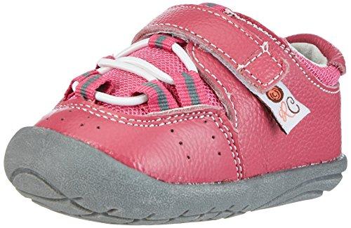 Rose & Chocolat Trainers Fuchsia - patucos y zapatillas de estar por casa de Otra Piel Bebé-Niños 19