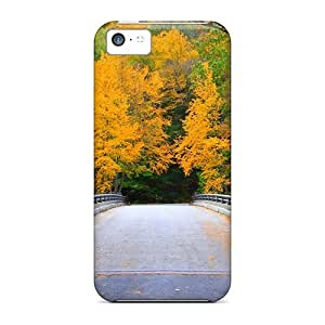 New Snap-on StarFisher Skin Case Cover Compatible With Iphone 5c- Bridge In Massachusetts