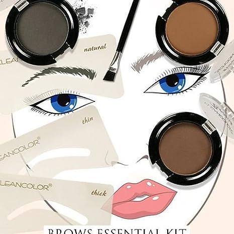 Kit moldeador para cejas fácil de usar, con plantillas, pincel y polvo para cejas: Amazon.es: Belleza