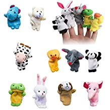 10pcs Tiny Animal Farm Finger Puppet Plush Cloth Toy, Velvet Cute Animal Style Finger Puppets for Bed Story Telling, Children, Shows, Playtime, Schools