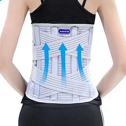 LPY-Adjustable Lumbar Support , Lumbar Device Protection Belt Breathable Widen 33cm , L by Waist support (Image #1)