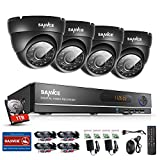 [New 720P] Sannce 8CH AHD 720P DVR Recorder 1TB Hard Drive Home Security System with 4xHD 1.0MP(1280*720) Weatherproof Indoor & Outdoor Day Night CCTV Cameras Surveillance System