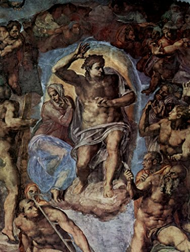 Lais Jigsaw Michelangelo Buonarroti - The Last Judgment, Fresco on The Altar Wall of The Sistine Chapel, Detail: Christ with Mary 100 -