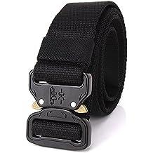 Utility Belt Cobra Riggers Belt – Gun Belts for Concealed Carry – Quick Release Gun Belt – Black Tactical Belt Duty Belt Gun Belt for Men Inner Battle Belt Police Belt CCW Belt for Men EDC Belt
