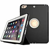 SOGOLA New iPad 9.7'' 2017 Case, 3in1 Heavy Duty Shock-Absorption/High Impact Resistant Armor Defender Case with Bracket For the New iPad 2017 9.7 inch - (Gray)