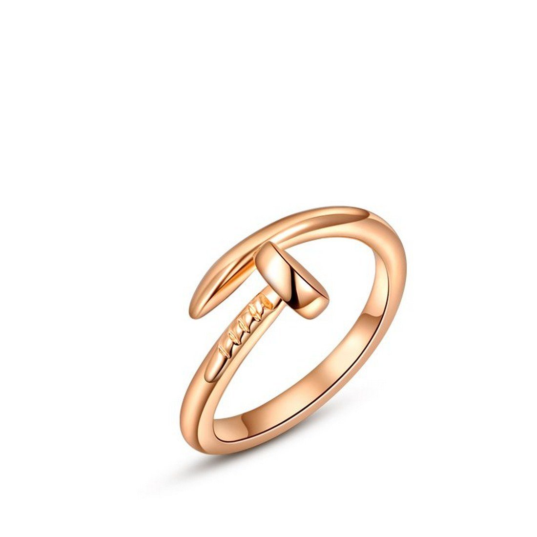 Creativelife Women's Personality Rose Golden Nail Ring