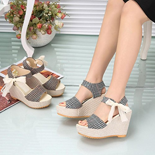 pendiente cuña Mocasines Sandalias mujeres alto con D mujer Las verano de Zapatos verano para con cuña Casual Sandalias de chanclas tacón Zapatos de de de LMMVP moda plataforma a7q8wxHn