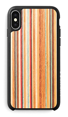 (Recover Skateboard Wood iPhone X/XS Case. Ultra Slim Protective Wooden Cover for iPhone X/iPhone Xs. (Skateboard))