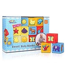 Bemixc 音の出る積み木 赤ちゃんおもちゃ 想像力を育つ知育玩...