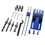Woodworking Dowel Jigs Tool DIY Woodworking High Precision Dowel Jigs Kit 3 in 1 Drilling Locator Drilling Guide Kit, Doweling Jig Kit with 3 Metric Dowel Holes Drilling Sleeves(6/8/10mm) for Woodwork