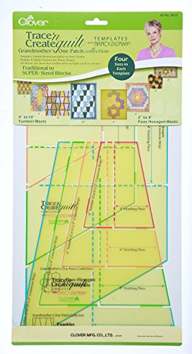 Clover Trace and Create Quilt Templates with Nancy Zieman, Grandmother's One Patch Collection
