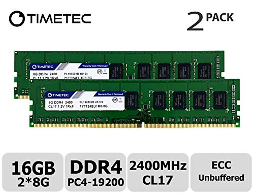 2 X 8GB DDR4-2400 1Rx8 UDIMM Memory for SUPERMICRO Motherboards NEMIX RAM 16GB