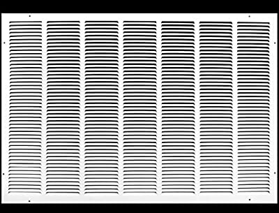 """30""""w X 30""""h Steel Return Air Grilles - Sidewall and Ceiling - HVAC Duct Cover - White [Outer Dimensions: 31.75""""w X 31.75""""h]"""