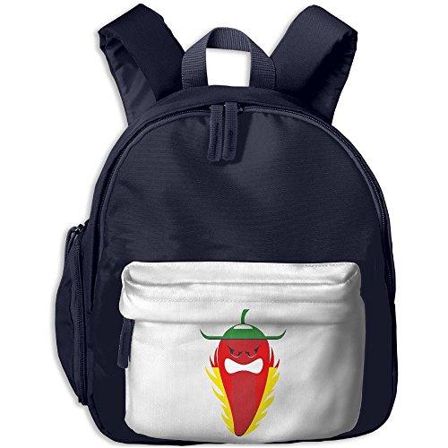 Kid's Backpack Hot Chili Pepper Fun Cartoon Style Childrens School Bag Mini Sidekick Backpack Best For Children's Travel Activity